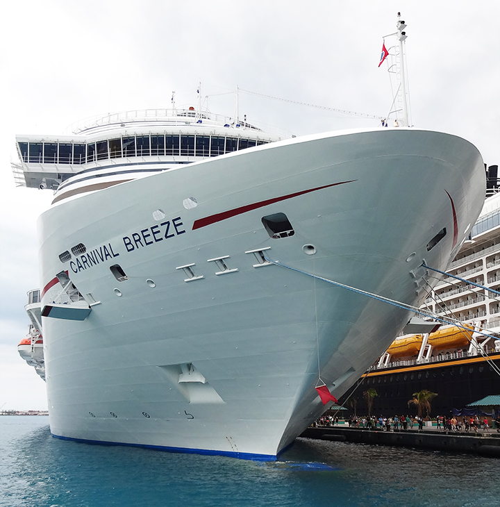 Carnival Breeze Route Map Facts Webcam Position Wiki Tracker - Azura cruise ship wiki